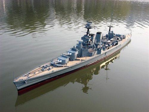 Huge 1 150 Rc Hms Hood Battle Cruiser