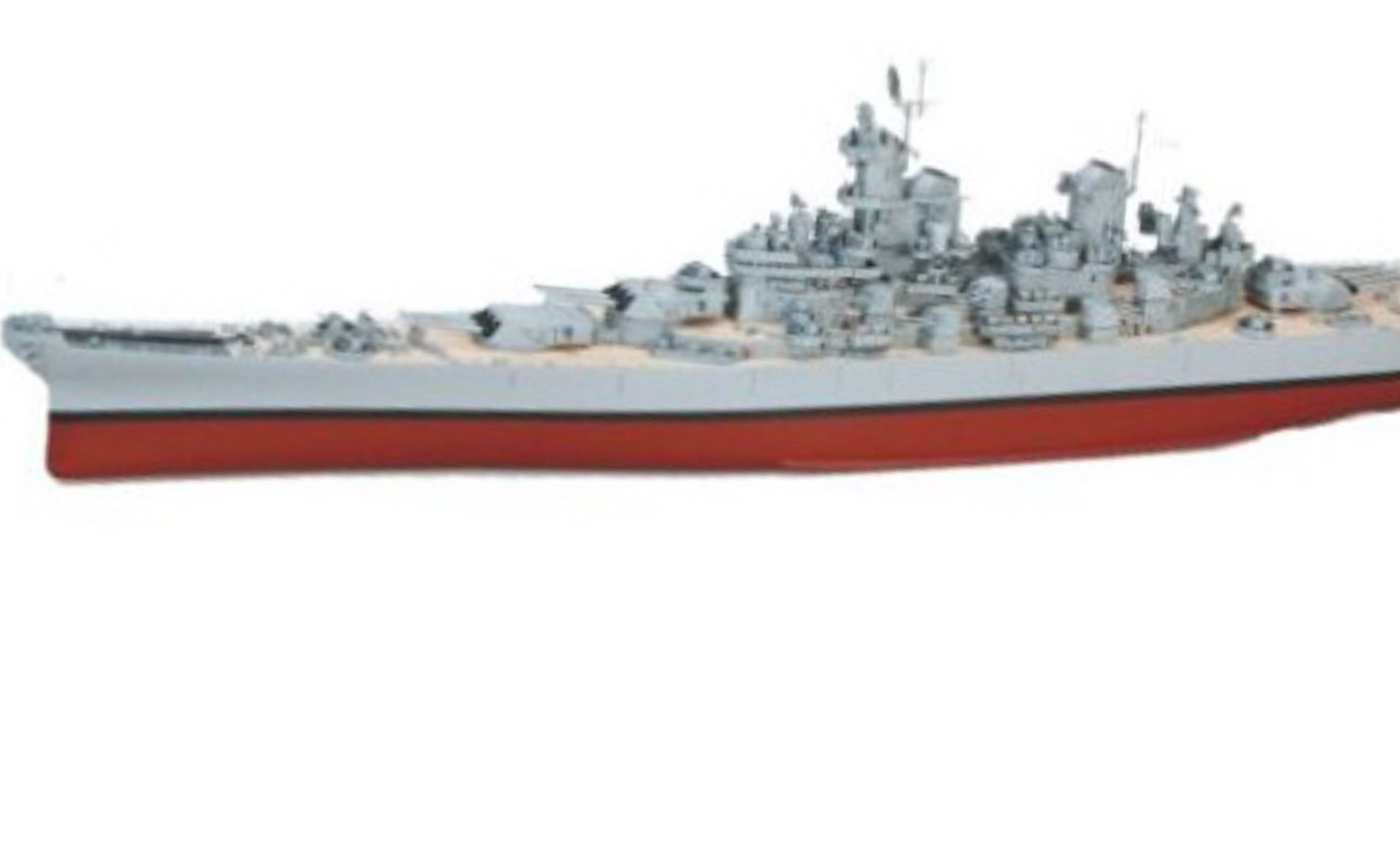 GIANT 71 INCHES IN LENGTH – RC USS MISSOURI BATTLESHIP – READY TO RUN