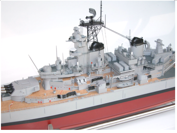 HUGE RADIO CONTROL RC USS NEW JERSEY BB-62 BATTLESHIP SHIP KIT – 54
