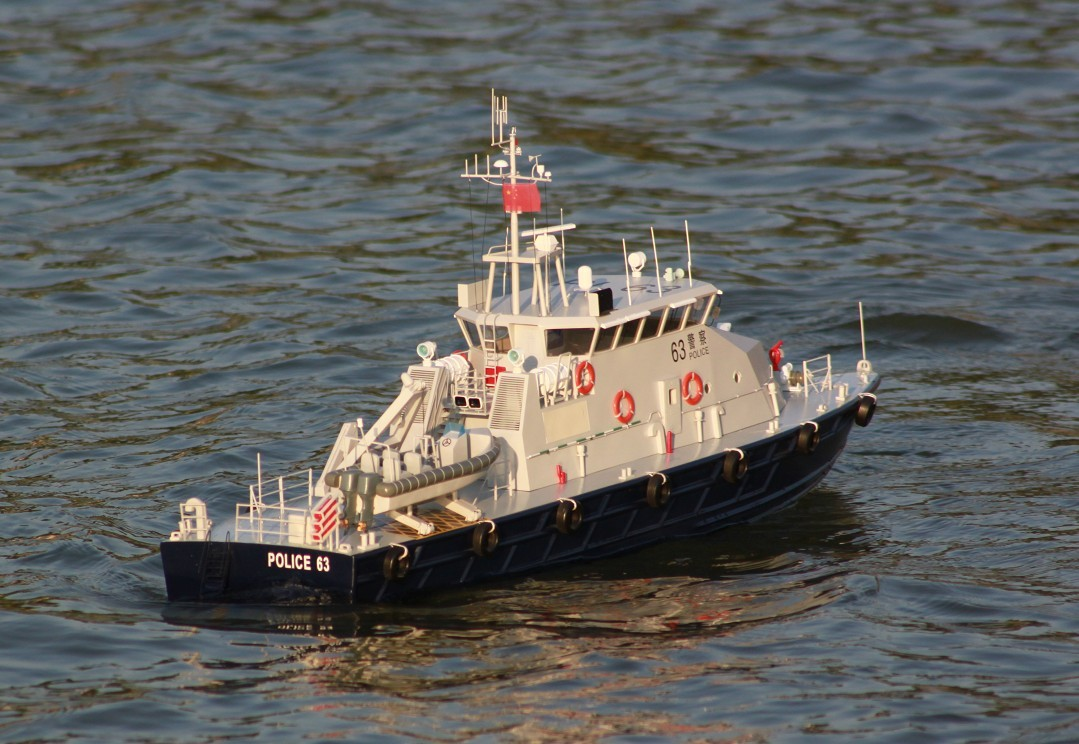 RC ROYAL STAR HIGH SPEED POLICE BOAT – READY TO RUN | The Scale Modeler - Trains, Boats, Planes ...