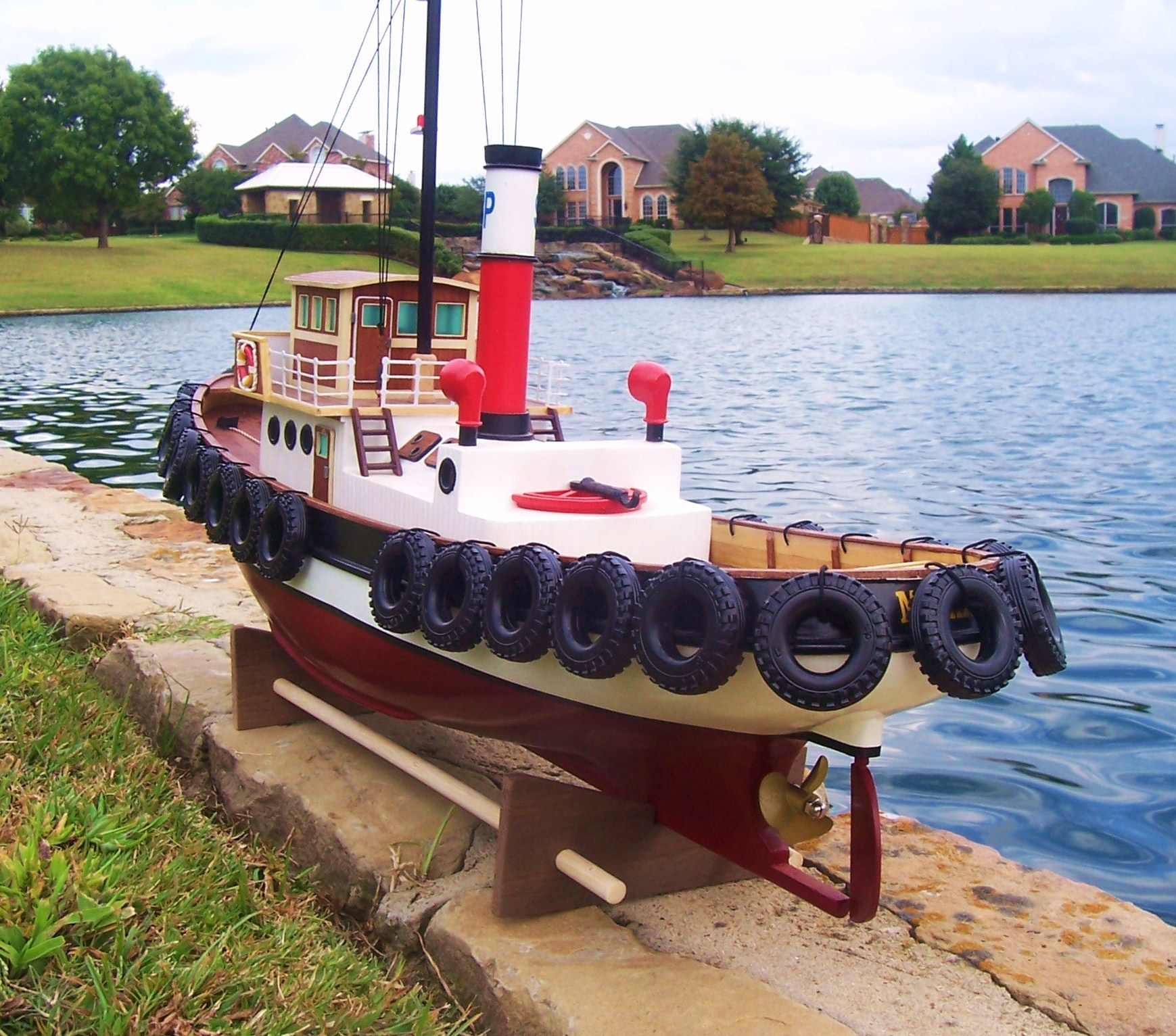 Rc Savannah Harbor Tug Boat Ready To Run The Scale